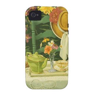 1144 Tea Time in Garden iPhone 4 Cover