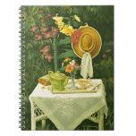 1144 Tea Time in Garden Spiral Notebook