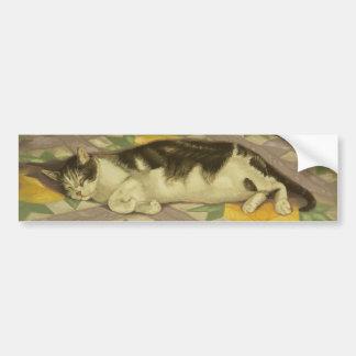 1149 Cat on Quilt Bumper Sticker
