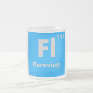 114 Flerovium | Periodic Table of Elements Frosted Glass Coffee Mug