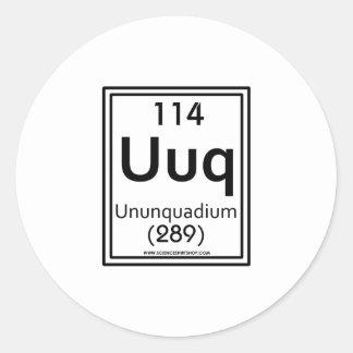 114 Ununquadium Classic Round Sticker