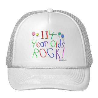 114 Year Olds Rock Hat
