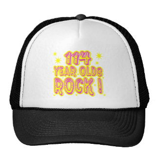 114 Year Olds Rock Pink Hat