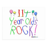114 Year Olds Rock ! Post Card