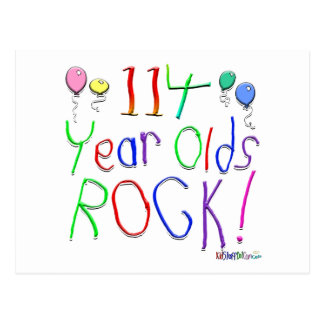 114 Year Olds Rock ! Postcard