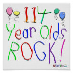 114 Year Olds Rock ! Print