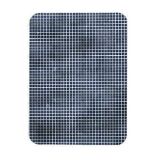1155 NAVY BLUE GRID PAPER PATTERN TEMPLATE TEXTURE MAGNET