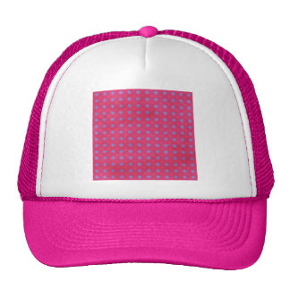 1157 HOT PINK PERIWINKLE BLUE STAR FLOWER PATTERN TRUCKER HAT