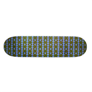 1159 GEOMETRIC PATTERN BOW TIE DIAMOND SHAPES GREE SKATE BOARD DECK