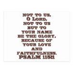 115:1 del salmo postal