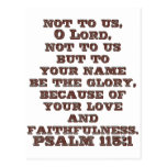 115:1 del salmo tarjetas postales