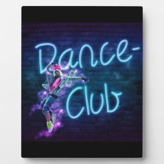 115 NEON DANCE CLUB DIGITAL REALISM GIRL HIPHOP PA PLAQUE