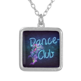 115 NEON DANCE CLUB DIGITAL REALISM GIRL HIPHOP PA SILVER PLATED NECKLACE