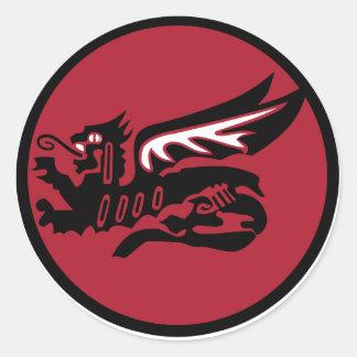 115 Squadron Classic Round Sticker
