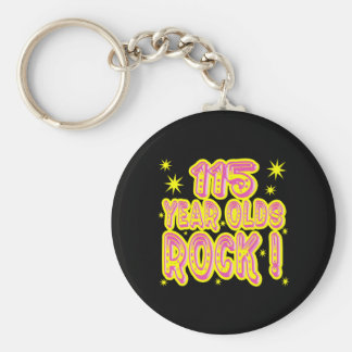 115 Year Olds Rock! (Pink) Keychain