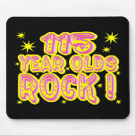 115 Year Olds Rock! (Pink) Mousepad