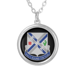 115th Infantry Regiment - Rally Round The Flag Silver Plated Necklace