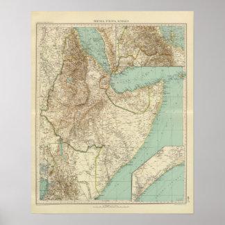 11617 Eritrea, Etiopía, Somalia Póster
