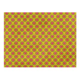 1161_geometric-05 GREENISH YELLOW   CLOUDY ABSTRAC Postcard