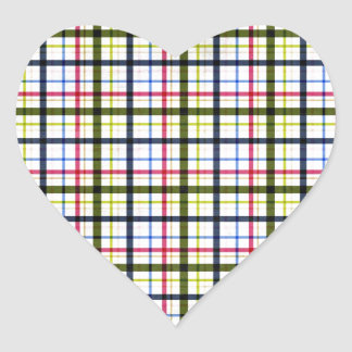 1162 PLAID COUNTRY BACKGROUND TEMPLATES TEXTURES P HEART STICKER