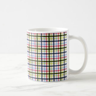 1162_plaid-paper-11-pink- navy_pu PINK NAVY WHITE Coffee Mug