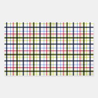 1162_plaid-paper-11-pink- navy_pu PINK NAVY WHITE Rectangular Sticker