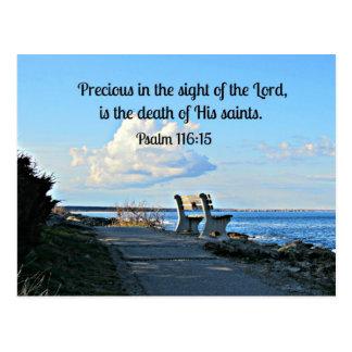 116:15 del salmo tarjeta postal