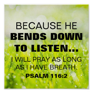 116:2 del salmo del verso de la biblia póster