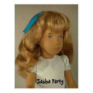 116S Sasha party postcard