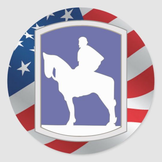 116th Infantry Brigade Combat Team Classic Round Sticker