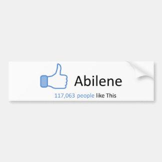 117063 people like Abilene Bumper Sticker