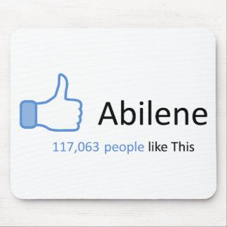 117063 personas tienen gusto de Abilene Alfombrilla De Raton