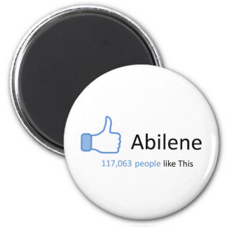 117063 personas tienen gusto de Abilene Imán Redondo 5 Cm