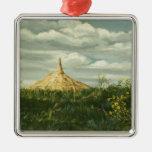 1170 Chimney Rock Landscape Metal Ornament