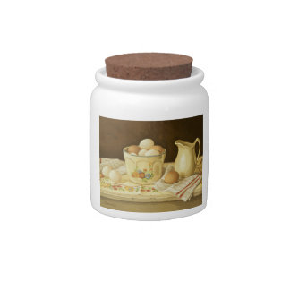1175 Bowl of Eggs & Pitcher Candy Jar