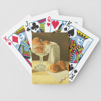 1181 Peaches in Glass Compote Bicycle Playing Cards