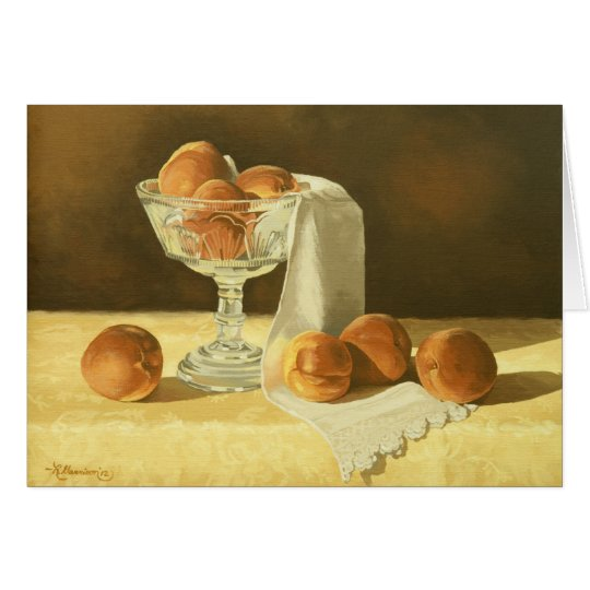 1181 Peaches in Glass Compote Sympathy Card