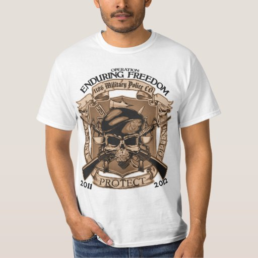 1186 Military Police - Enduring Freedom Shirts