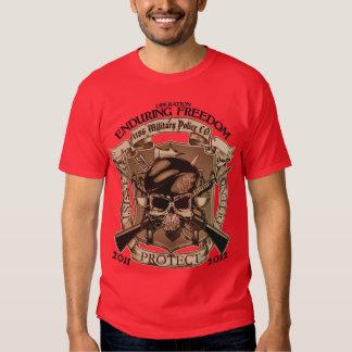 1186 Military Police - Enduring Freedom Tee Shirt