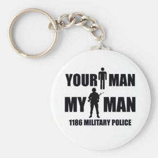 1186 Military Police My Man Keychain