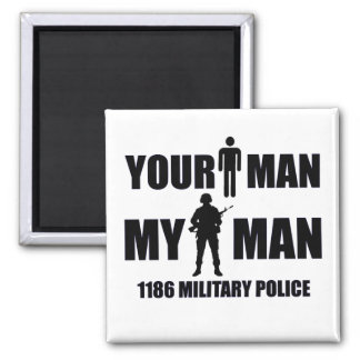 1186 Military Police My Man 2 Inch Square Magnet
