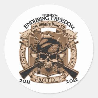 1186 MP Enduring Freedom Classic Round Sticker