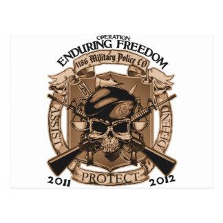 1186 MP Enduring Freedom Postcard