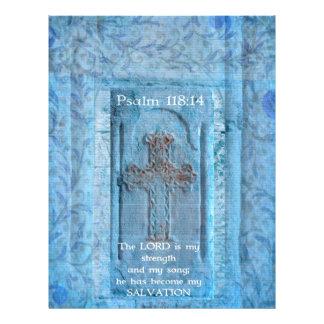 118:14 del salmo que anima verso de la biblia membretes personalizados