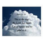 118:24 del salmo éste es el día el hath del señor  postales