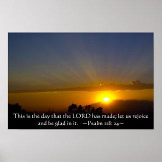 118:24 del salmo póster