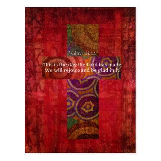 118:24 del salmo que eleva arte del cristiano del postales