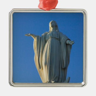 118-foot statue of the Virgin Mary on San Square Metal Christmas Ornament