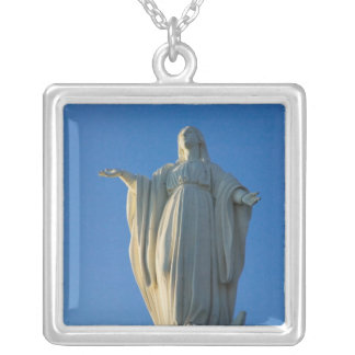 118-foot statue of the Virgin Mary on San Silver Plated Necklace
