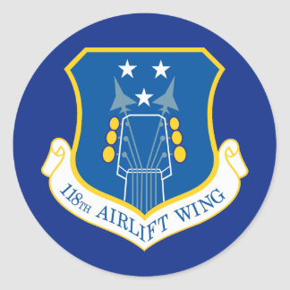 118th Airlift Wing Classic Round Sticker